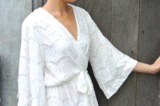 Airy summer white dress idea