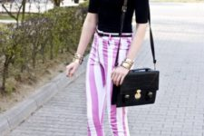 pants with stripes