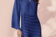 Elegant striped mini length dress