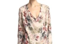 Floral printed blouse with neutral pants