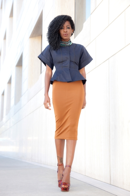 22 Feminine Peplum Jacket Outfits For This Fall - Styleoholic