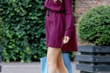 Super trendy look with shirtdress and pumps with socks