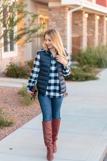 22 Comfy Puffer Vest Outfits For This Fall Styleoholic