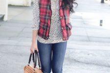 Polka dot shirt outfit