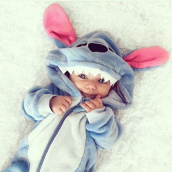 Stitch costume for the smallest children is a comfy and cute idea