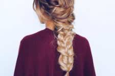 02 large messy back braid with a twist