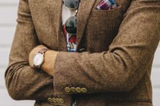 03 tweed with a printed t-shirt