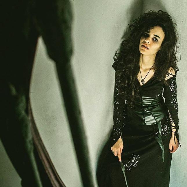 Bellatrix Lestrange in all-black
