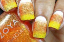 04 candy corn nails