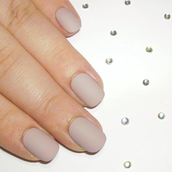 neutral matte nails are trendy and chic