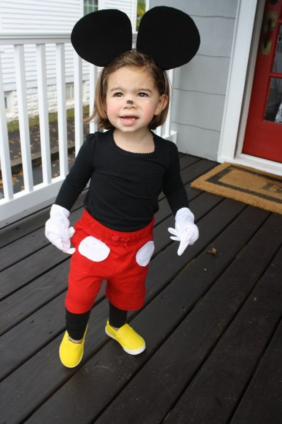 Mickey Mouse costume is easy and fast to recreate