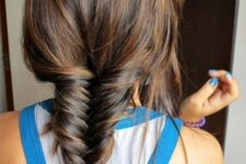 05 fishtail braid is cool for any season