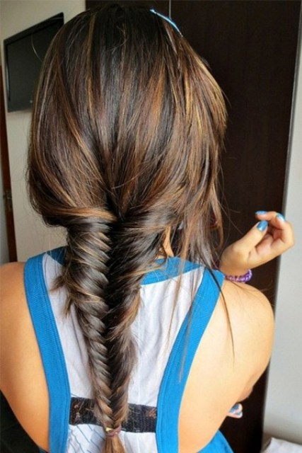 fishtail braid is cool for any season