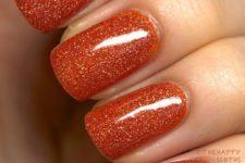 05 glitter burnt orange nails