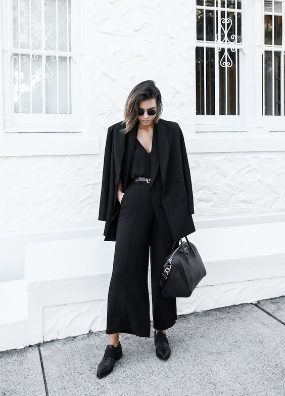 culotte jumpsuit, flats shoes and a jacket will fit almost any office