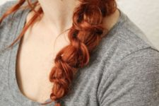 06 messy knot braid is a fresh take on a traditional one
