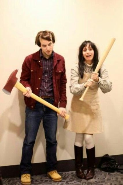 the Shining couple costumes to remind of the cool film