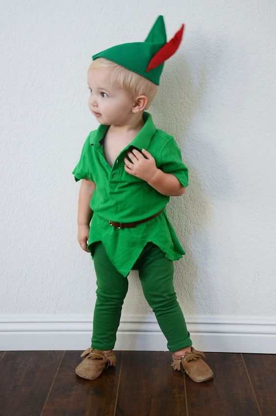 Peter Pan outfit for a small boy