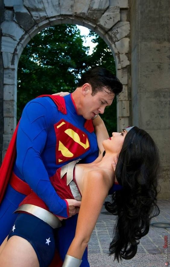 Superman and Wonder Woman costumes for inner super heroes