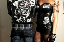 08 Sons of Anarchy Halloween duo costume
