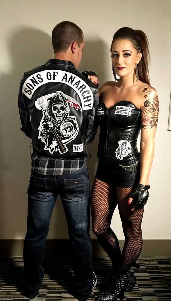 Sons of Anarchy Halloween duo costume