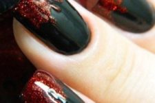 08 blood dripping nails with glitter red polish