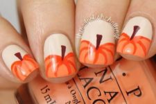 08 pumpkin nails for rustic coziness
