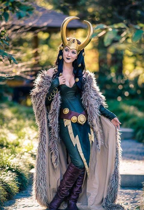 Lady Loki cosplay for Halloween