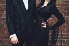 09 Morticia and Gomez Addams couple costume is Halloween classics