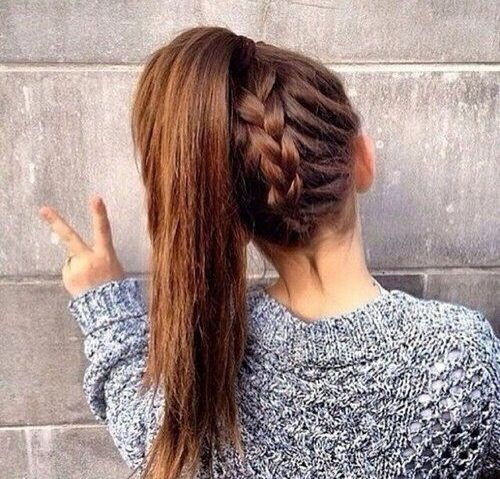 braided ponytail is amazing for everyday wear