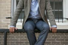 tweed men outfit