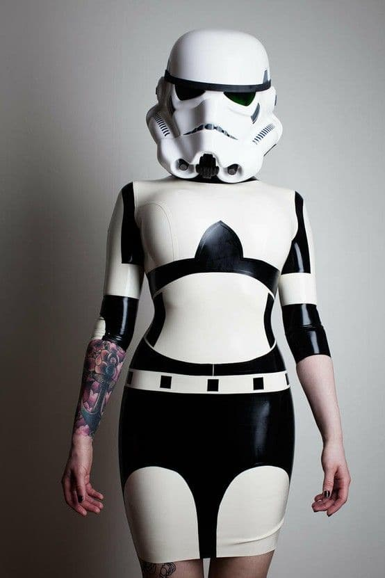 lady Stormtrooper look with a mask