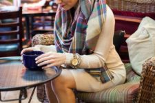 sweater and scarf fall outfit