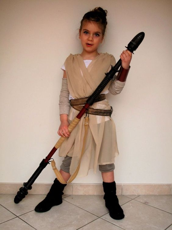 Rey costume from Star Wars for geeks and nerds
