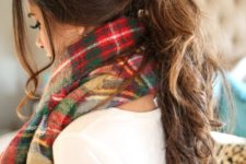 11 messy low ponytail is a quick option to go