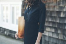 11 simple work ensemble with a skirt and a button down