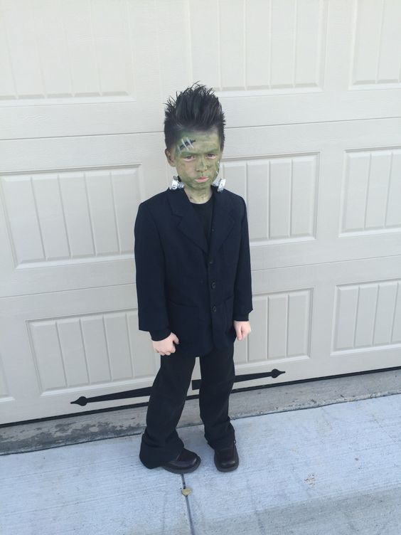 Frankenstein costume is mostly about makeup