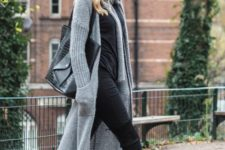 Grey cardigan outfit