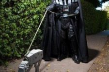 13 Darth Vader and AT AT Star Wars dog costume