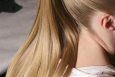 15 super sleek ponytail is another option to keep the hair off the neck
