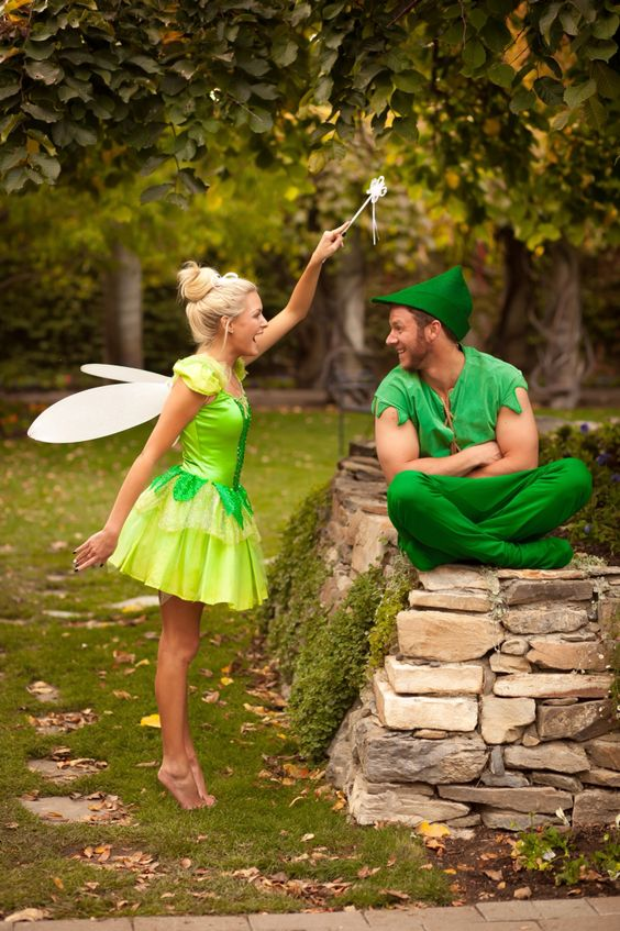 Peter Pan and Tinker bell cotumes for tale-loving couples