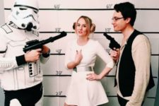 16 Stormtrooper, Princess Leia, and Han Solo