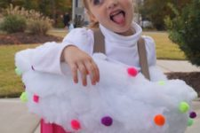 16 colorful cupcake costume for girls