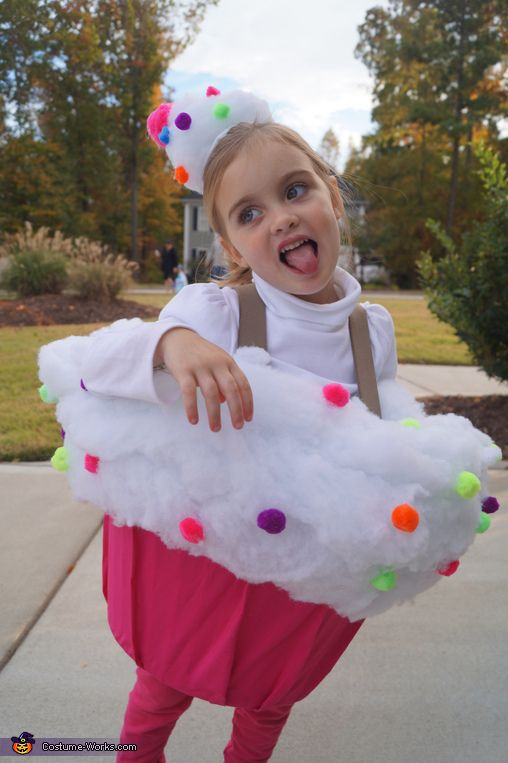 colorful cupcake costume for girls