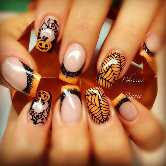 Picture of halloween nail art prinsesfo Choice Image