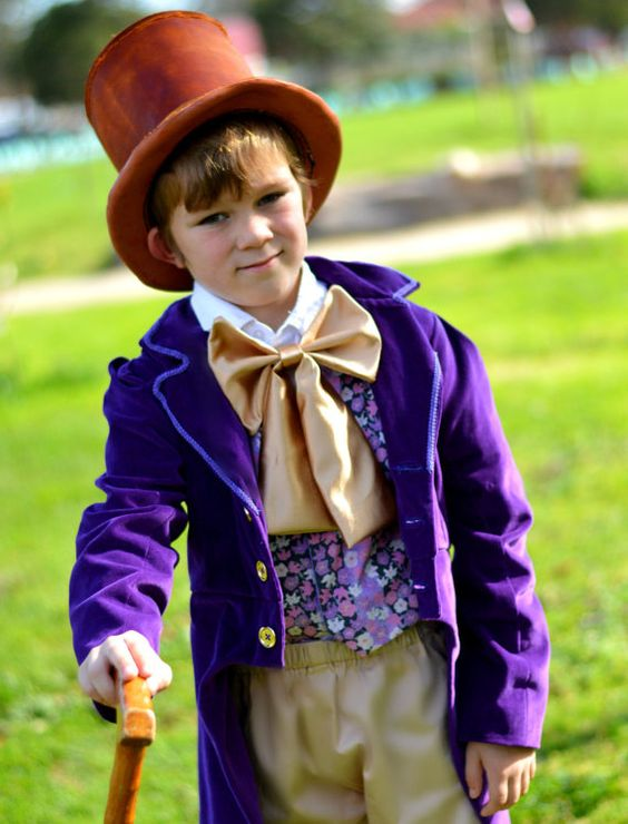Willy Wonka celebrity outfit from Charlie and the Chocolate factory