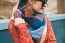 19 Dutch crown braid won't prevent you from wearing a blanket scarf