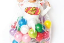 20 Jelly Belly Halloween costume with balloons for girls