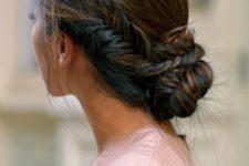 20 fishtail braid side bun for an elegant look