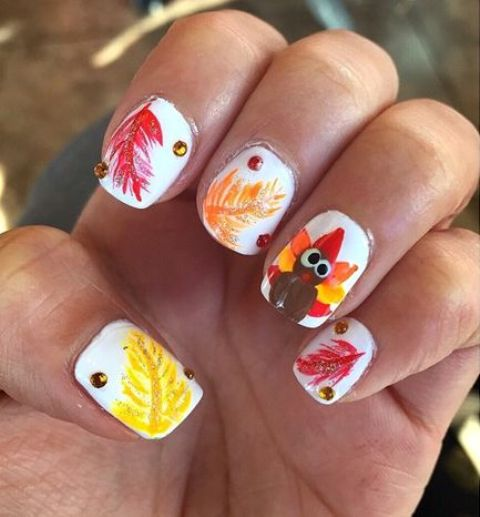 Thanksgiving Nails: 29 Cozy And Eye-Catchy Thanksgiving Nails Ideas